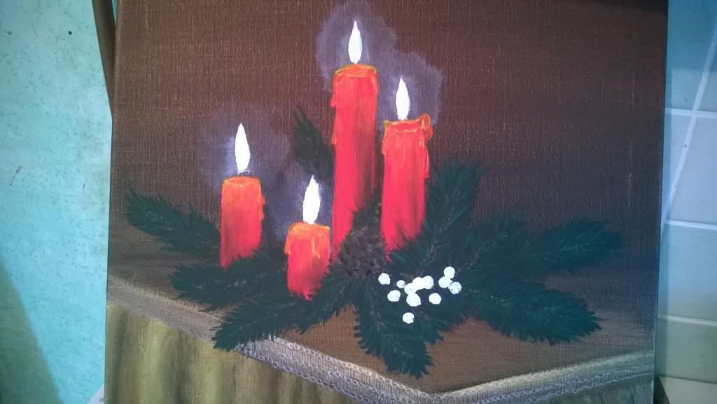 12-stilleben-weihnachtsgesteck-mit-kerzen-malen