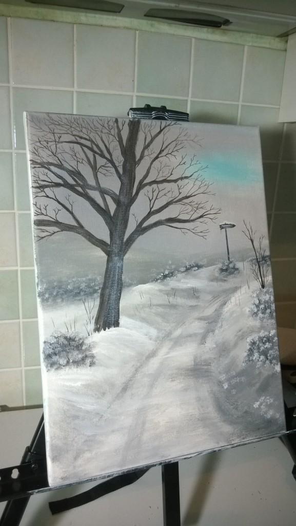 20-Verschneiter-Wanderweg-mit-Baum