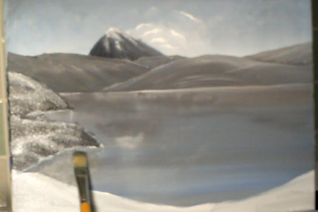 10-Malkurs-Acryl-Bergsee-im-Winter