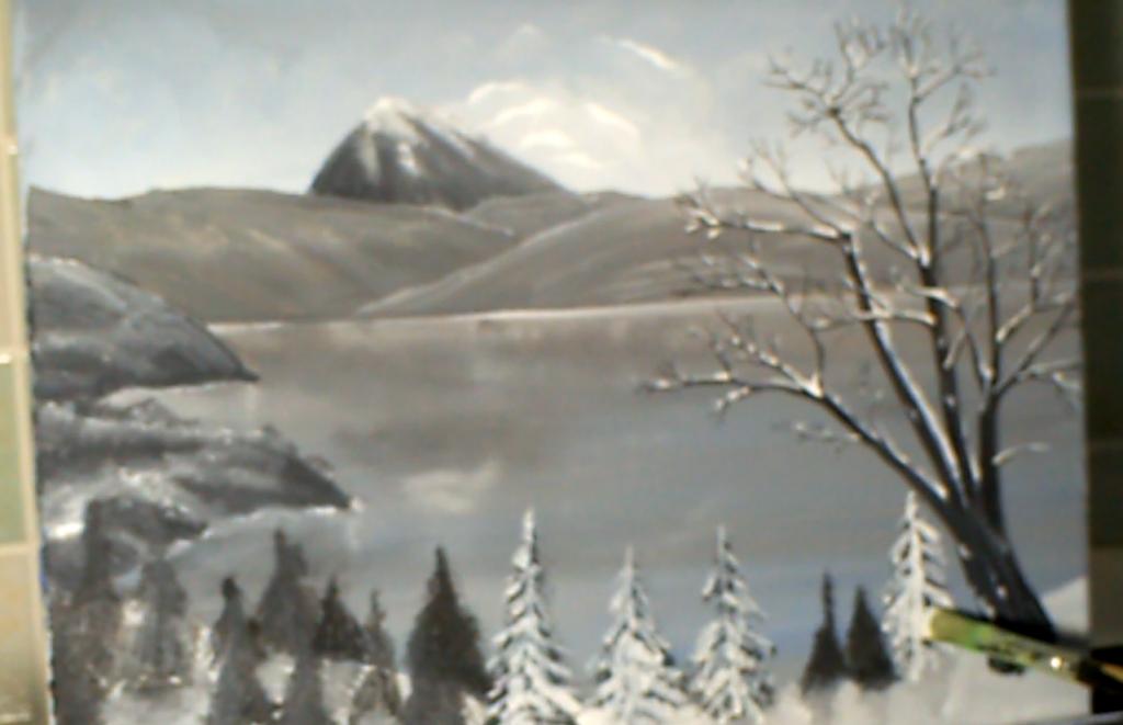 13-Malkurs-Acryl-Bergsee-im-Winter
