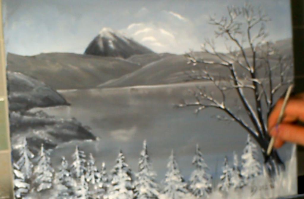14-Malkurs-Acryl-Bergsee-im-Winter