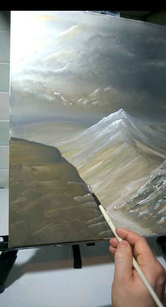 8-Malkurs-Acryl-Windfluechter-im-Gebirge