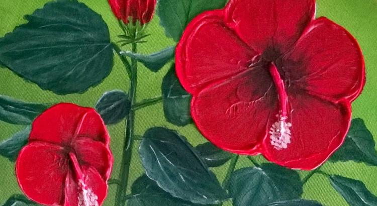 Blumen malen malen macht spass - Malen mit acryl auf leinwand ...