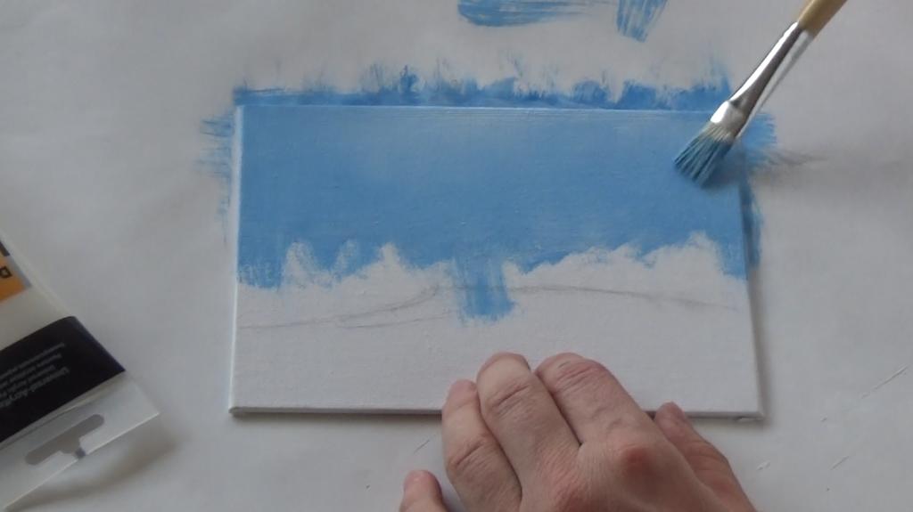 1-Malkurs-acrylfarben-ruhiger-Flusslauf-im-Wald