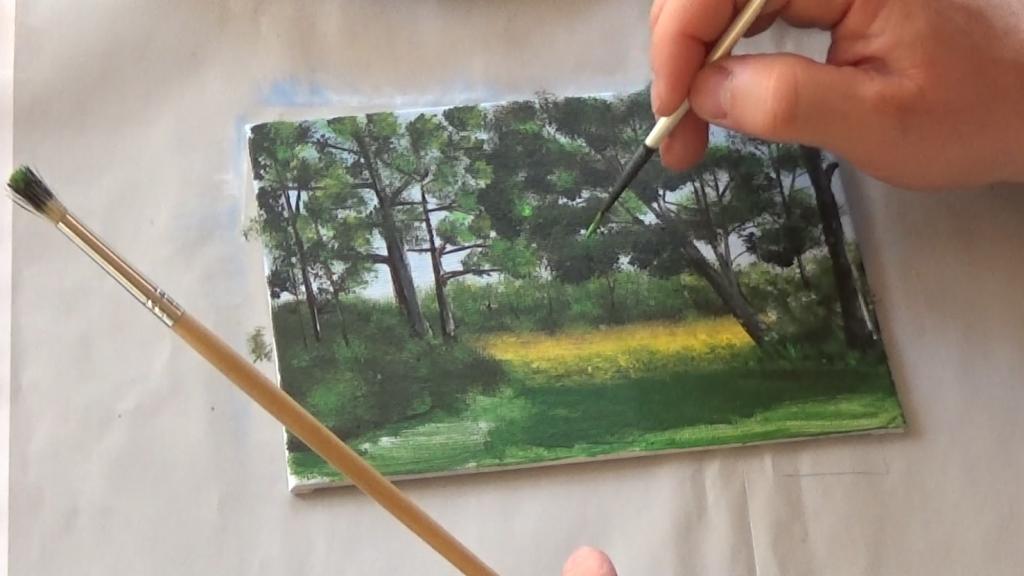 10-Malkurs-acrylfarben-Auf-der-sommerlichen-Waldlichtung