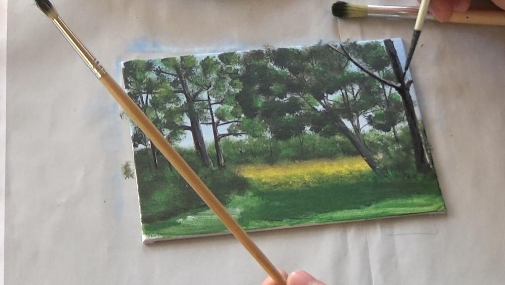 11-Malkurs-acrylfarben-Auf-der-sommerlichen-Waldlichtung