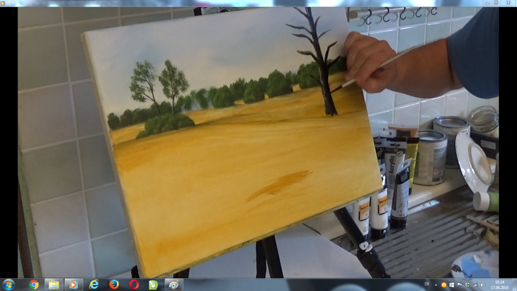 12-Malkurs-Acryl-Sommerliche-Wiesenlandschaft