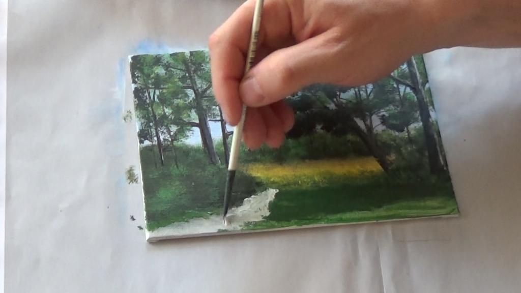 12-Malkurs-acrylfarben-Auf-der-sommerlichen-Waldlichtung