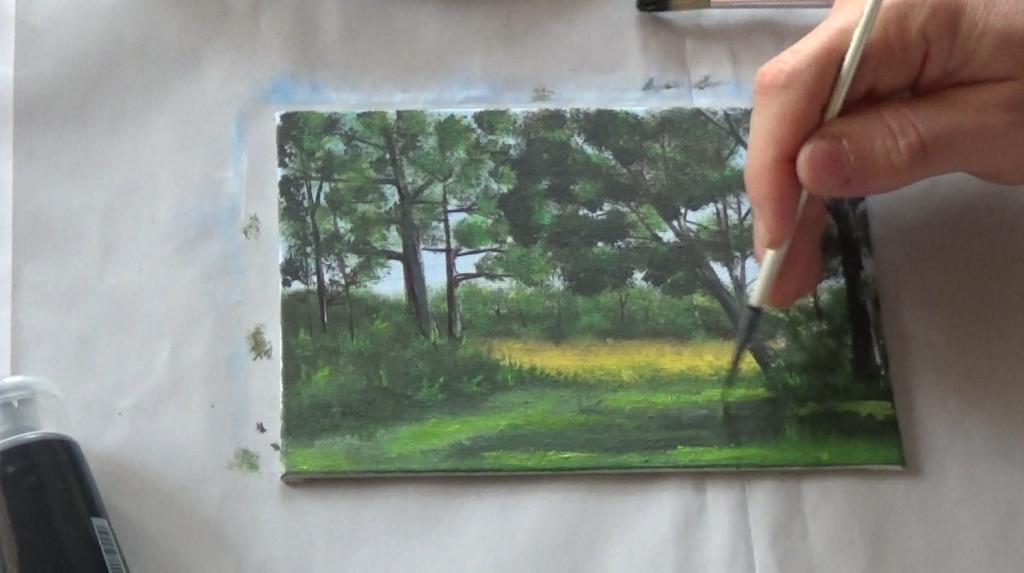 14-Malkurs-acrylfarben-Auf-der-sommerlichen-Waldlichtung