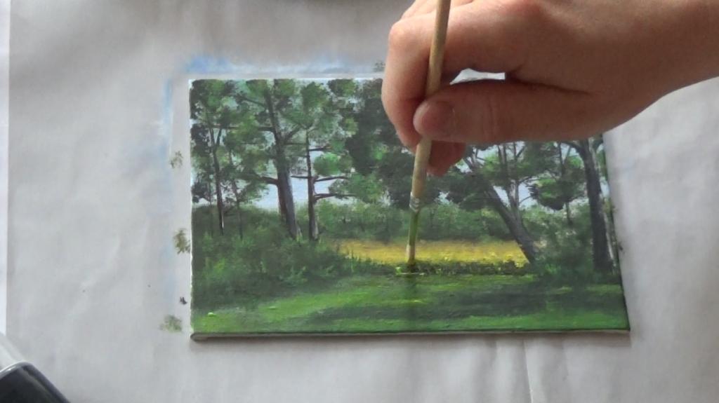 15-Malkurs-acrylfarben-Auf-der-sommerlichen-Waldlichtung
