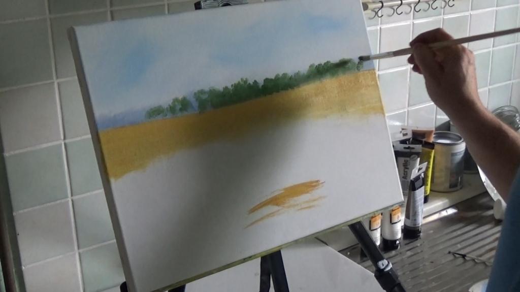 3-Malkurs-Acryl-Sommerliche-Wiesenlandschaft
