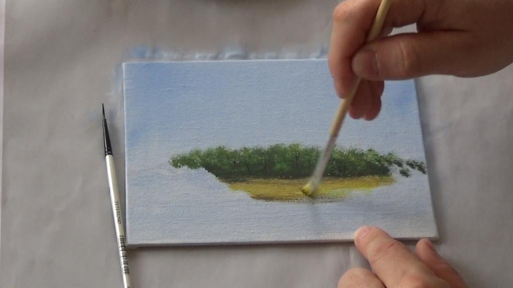 3-Malkurs-acrylfarben-Auf-der-sommerlichen-Waldlichtung