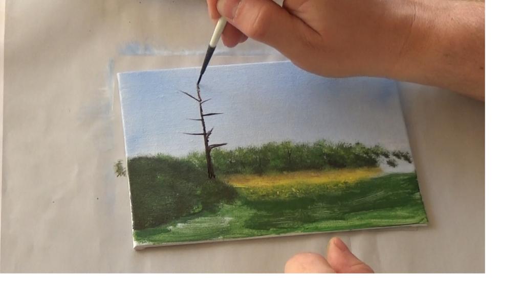 4-Malkurs-acrylfarben-Auf-der-sommerlichen-Waldlichtung