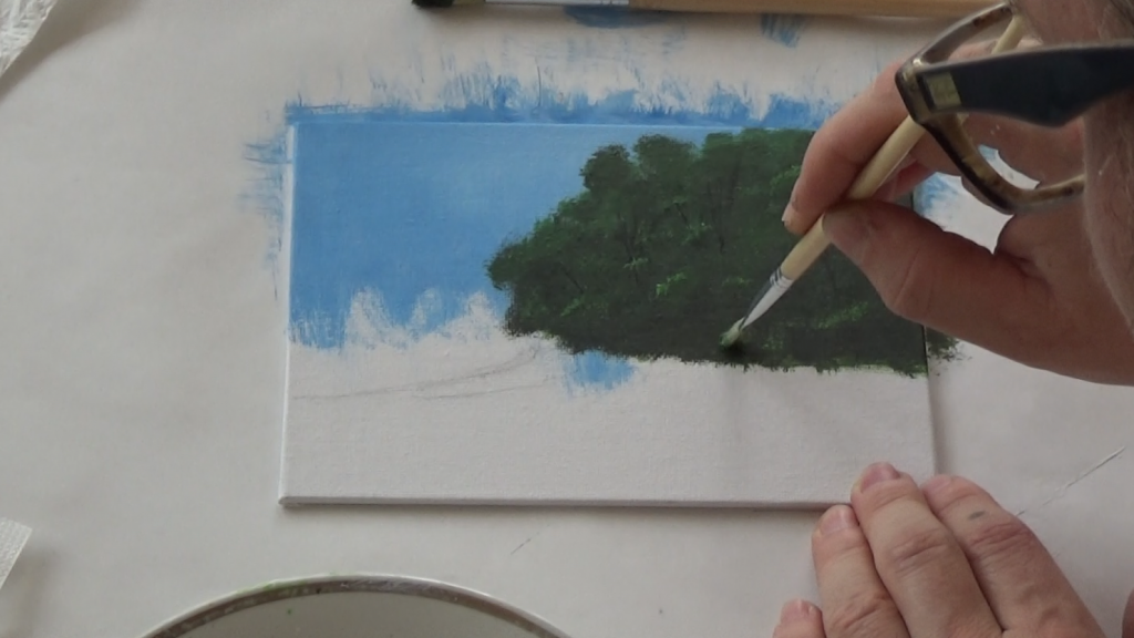 4-Malkurs-acrylfarben-ruhiger-Flusslauf-im-Wald