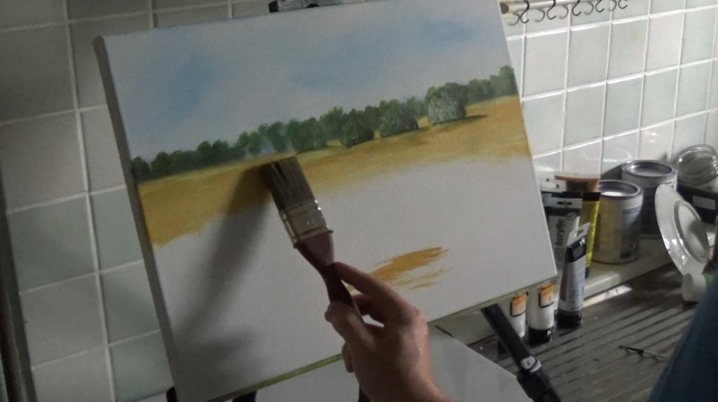 5-Malkurs-Acryl-Sommerliche-Wiesenlandschaft