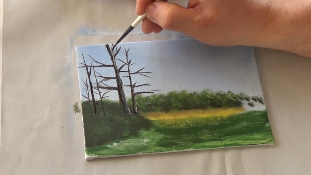 5-Malkurs-acrylfarben-Auf-der-sommerlichen-Waldlichtung