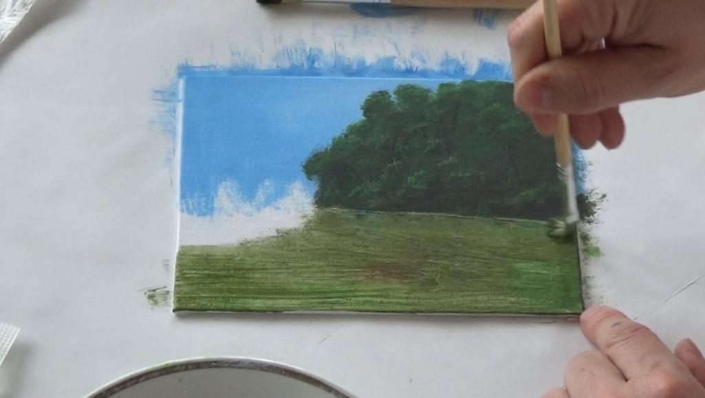 5-Malkurs-acrylfarben-ruhiger-Flusslauf-im-Wald