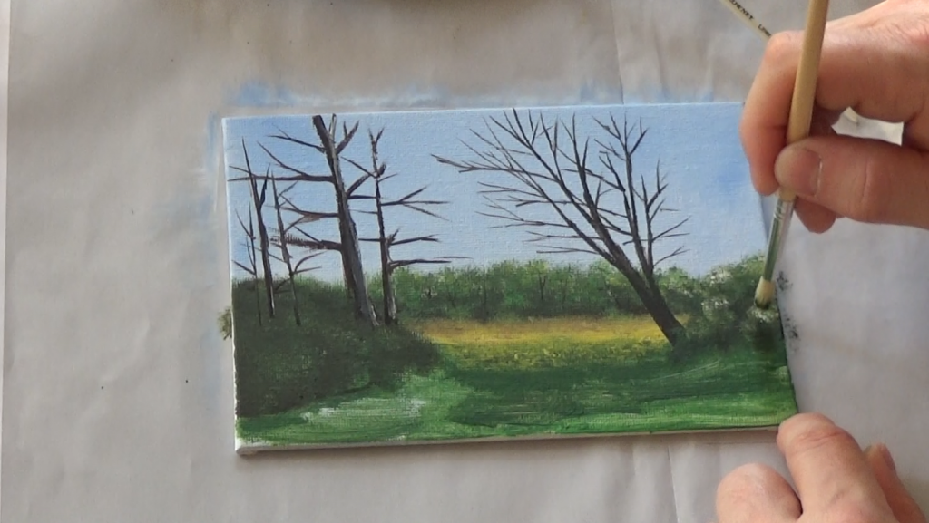 6-Malkurs-acrylfarben-Auf-der-sommerlichen-Waldlichtung