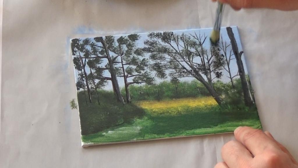 7-Malkurs-acrylfarben-Auf-der-sommerlichen-Waldlichtung