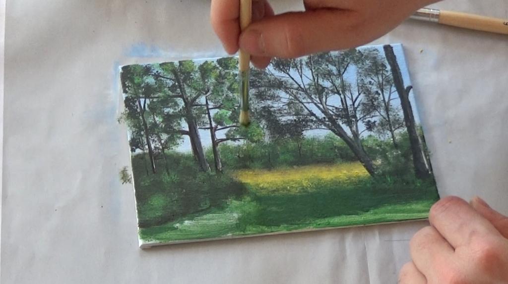 8-Malkurs-acrylfarben-Auf-der-sommerlichen-Waldlichtung