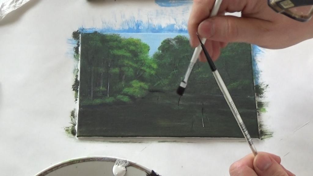 8-Malkurs-acrylfarben-ruhiger-Flusslauf-im-Wald