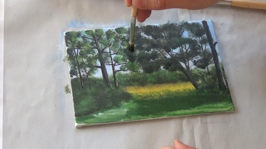 9-Malkurs-acrylfarben-Auf-der-sommerlichen-Waldlichtung
