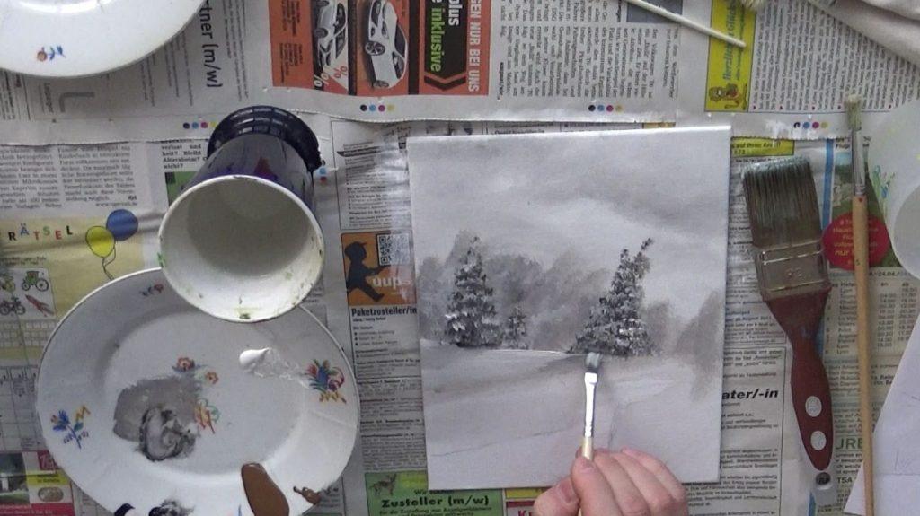 Nun malt Ihr die Lichtreflexe, bestehend aus Schatten und Licht.